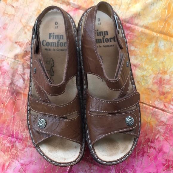 d916d8b2672ed Finn Comfort size 41D sandals dark tan